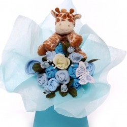Baby Bouquet With Giraffe Soft Toy Baby Boy Gift.