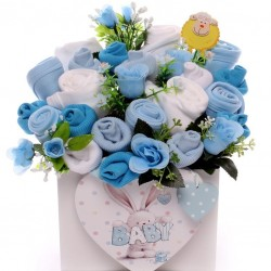 Baby Clothing Bouquet Arrangement Gift Box.