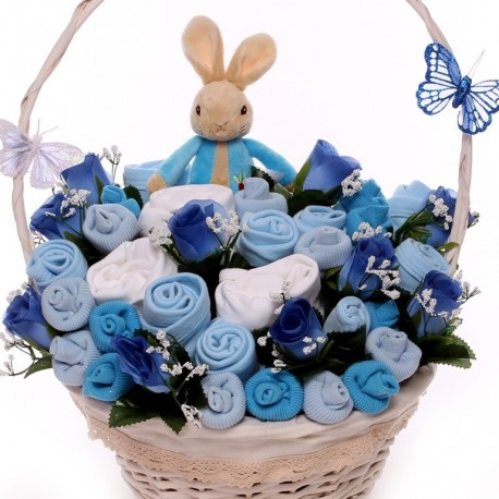 Peter Rabbit Baby Bouquet Gift Basket.