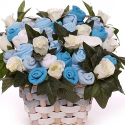 Luxury Baby Bouquet Gift Basket Baby Boy.