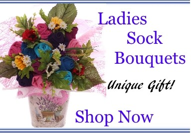 Ladies Sock Bouquets